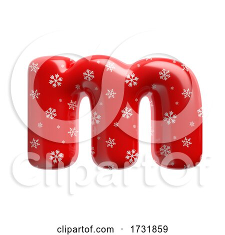 Snowflake Letter M Lowercase 3d Christmas Suitable for Christmas Santa Claus or Winter Related Subjects by chrisroll