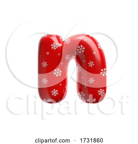 Snowflake Letter N Small 3d Christmas Suitable for Christmas Santa Claus or Winter Related Subjects by chrisroll