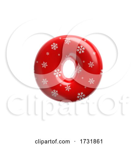 Snowflake Letter O Small 3d Christmas Suitable for Christmas Santa Claus or Winter Related Subjects by chrisroll