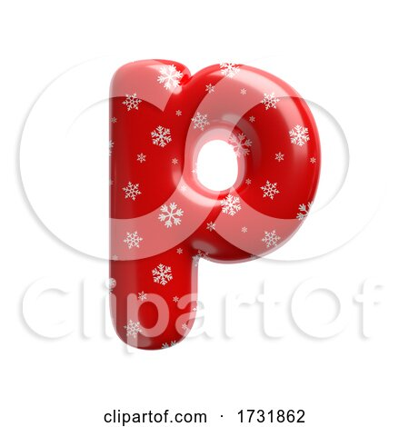 Snowflake Letter P Lowercase 3d Christmas Suitable for Christmas Santa Claus or Winter Related Subjects by chrisroll