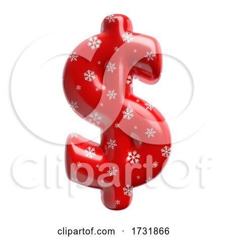 Snowflake Dollar Currency Sign Business 3d Christmas Symbol Suitable for Christmas Santa Claus or Winter Related Subjects by chrisroll