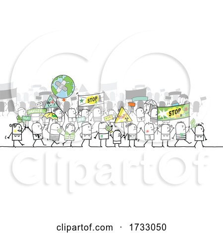 Stick People Protesting by NL shop