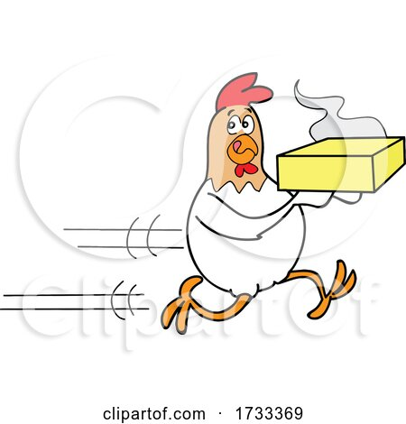 Fast Running Delivery Chicken by LaffToon