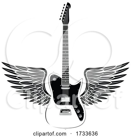 Winged Guitar by Vector Tradition SM