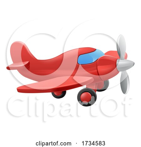 Cute Aeroplane Airplane Cartoon by AtStockIllustration