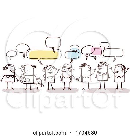 Stick People Talking by NL shop