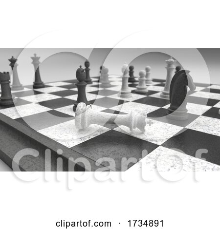 Classic Chess Board and Pieces by KJ Pargeter