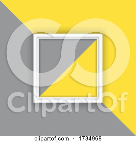 Display Background with Picture Frame on Grey and Yellow Background by KJ Pargeter