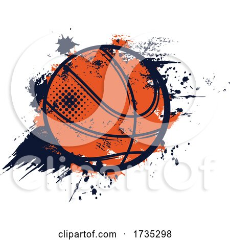 Grungy Basketball by Vector Tradition SM