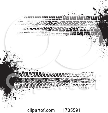 Tire Tracks by Vector Tradition SM