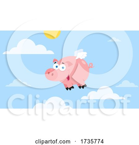 Flying Pig in the Sky by Hit Toon