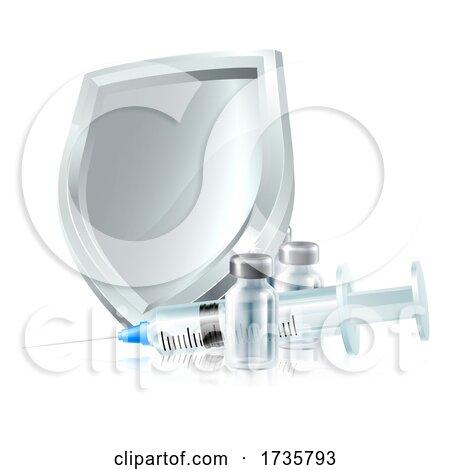 Vaccine Injection Immunisation Syringe Concept by AtStockIllustration