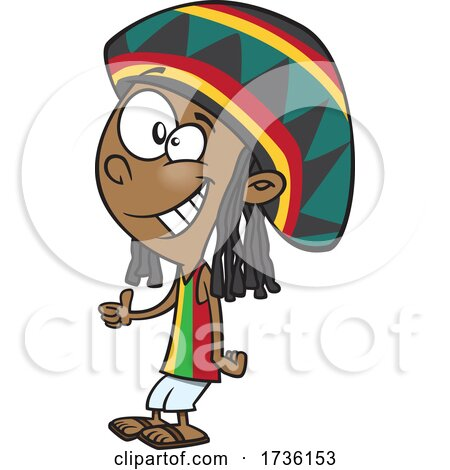 Cartoon Jamaican Boy by toonaday