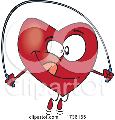 Cartoon Heart Skipping Rope by toonaday