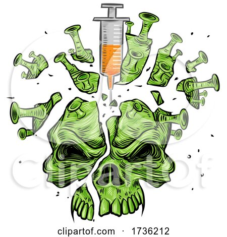 Virus Earth Pricked with Vaccine Needles by Domenico Condello
