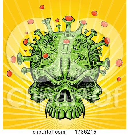 Covid Skull Virus over Rays by Domenico Condello