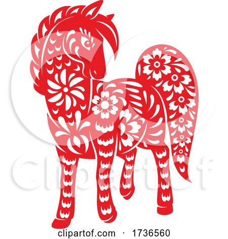 Chinese Zodiac Horse by Vector Tradition SM