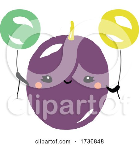 Cute Passion Fruit with Balloons by elena