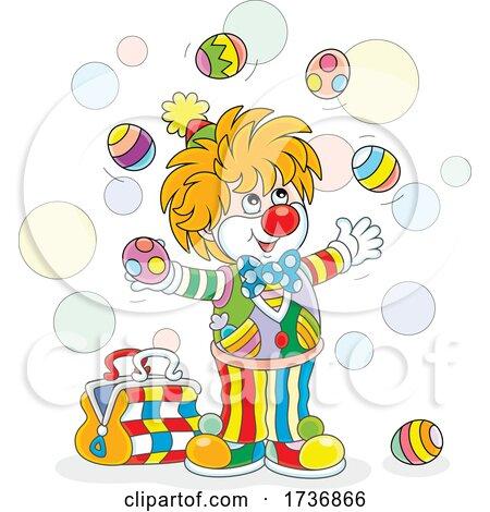 Clown Juggling by Alex Bannykh