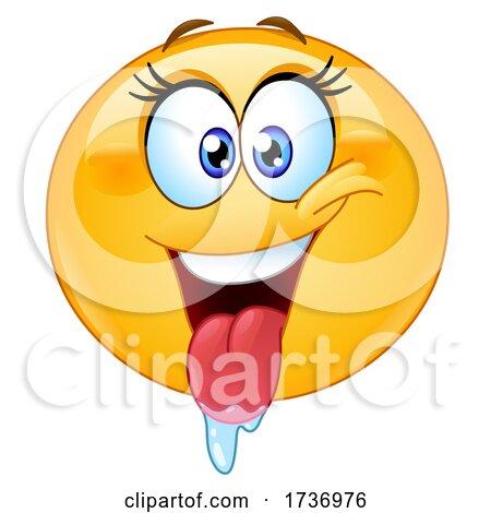 Yellow Smiley Emoji Emoticon Drooling by yayayoyo