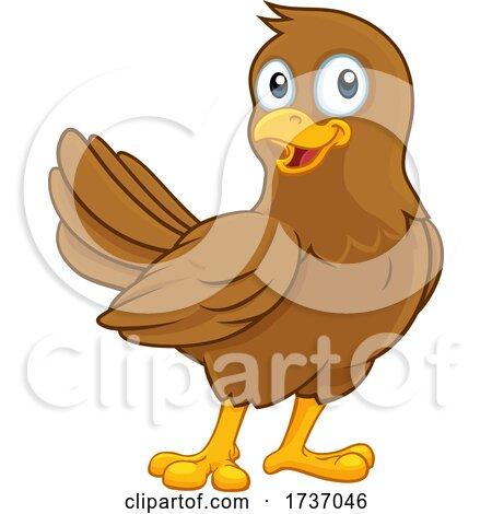 Cute Bird Cartoon Character by AtStockIllustration