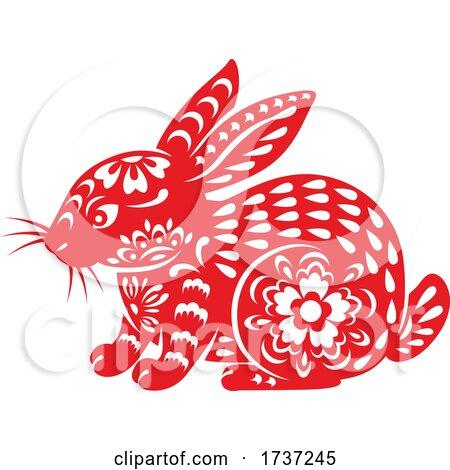 Chinese Horoscope Zodiac Rabbit by Vector Tradition SM