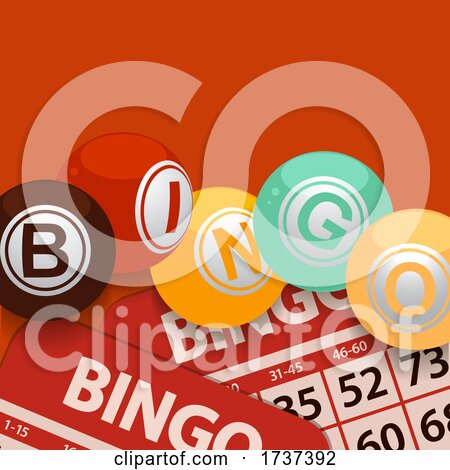 Bingo Balls and Cards with 70s Colours by elaineitalia