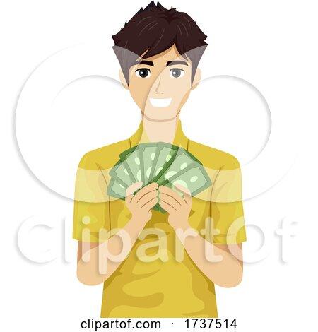 Teen Boy Job Money Illustration by BNP Design Studio