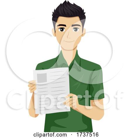 Teen Boy Job Resume Illustration by BNP Design Studio