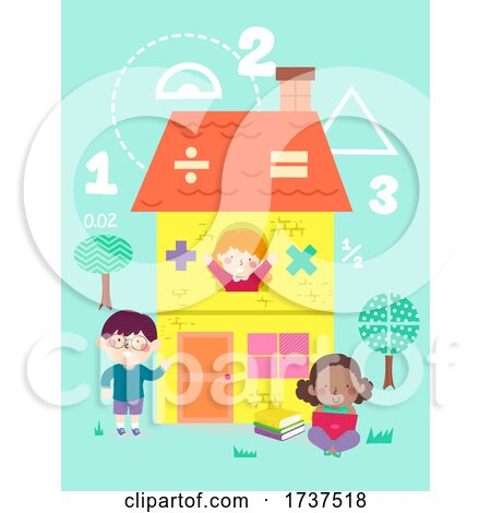Kids Math House Illustration by BNP Design Studio