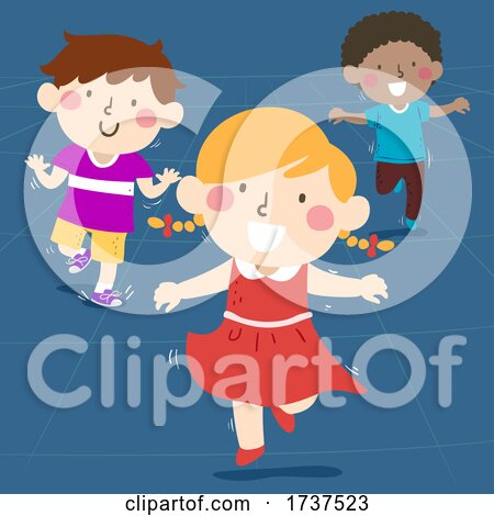 Kids Hopping Illustration by BNP Design Studio