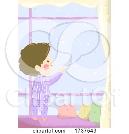 Kid Boy Write Speech Bubble Window Illustration by BNP Design Studio