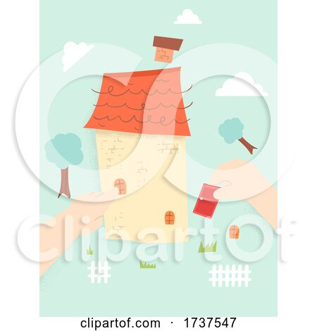 Kid Hands Assemble House Illustration by BNP Design Studio