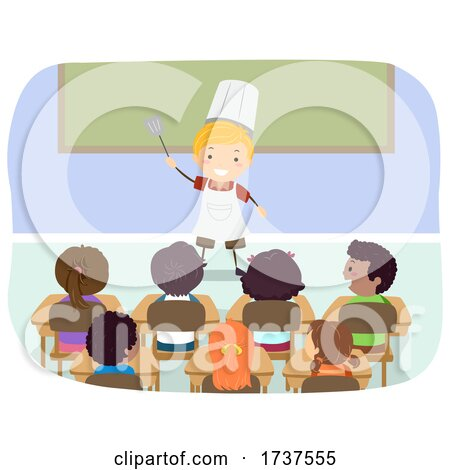 Kid Boy Chef Dream Job Career Day Illustration by BNP Design Studio