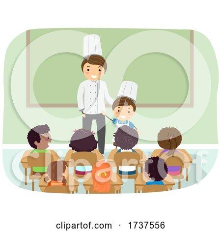 Kid Boy Dad Chef Job Career Day Illustration by BNP Design Studio