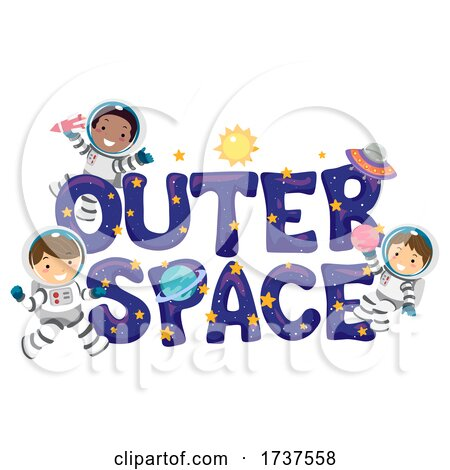 Stickman Kids Astronaut Outer Space Illustration by BNP Design Studio