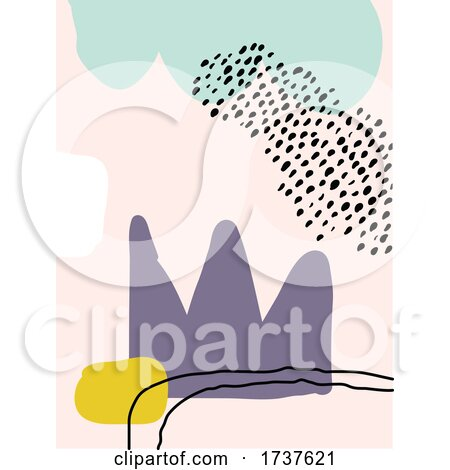 Abstract Background with Hand Drawn Doodle Objects by elena