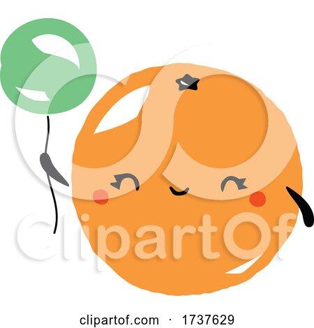 Orange and Balloon by elena