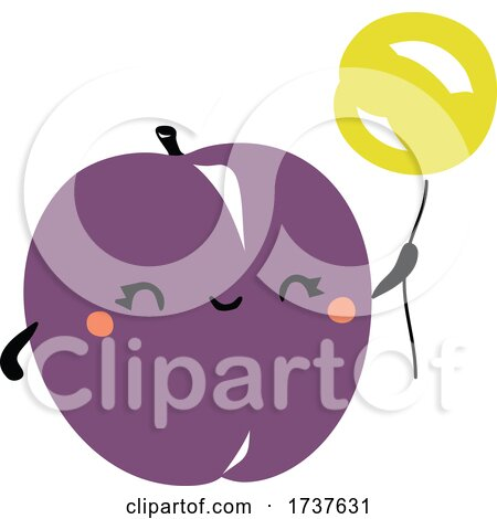 Cute Plum with a Balloon by elena
