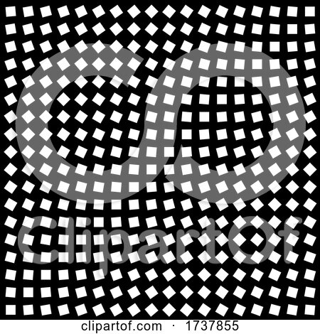Black and White Squares in Optical Illusion Grid by Steve Young