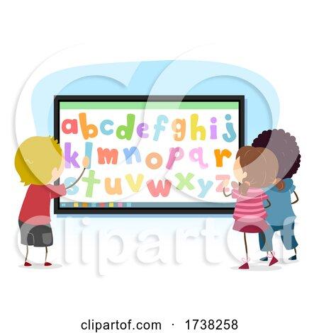 Stickman Kids Interactive Alphabet Illustration by BNP Design Studio