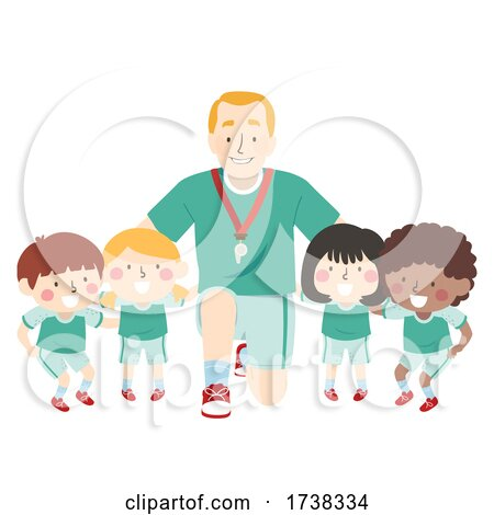 Kids Coach Team Group Plan Illustration by BNP Design Studio