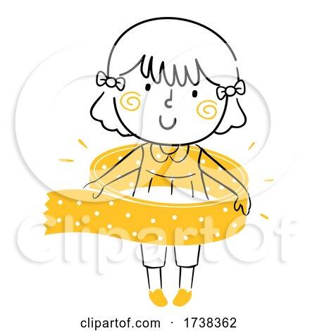 Kid Girl Doodle Washy Tape Illustration by BNP Design Studio