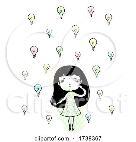 Girl Doodle Ideas Plenty Illustration by BNP Design Studio