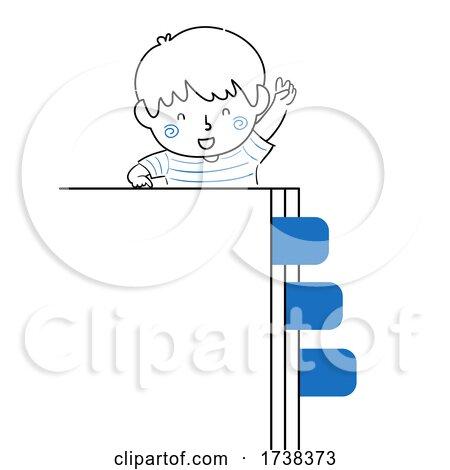 Kid Boy Doodle Page Tabs Illustration by BNP Design Studio