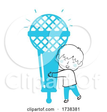 Kid Boy Doodle Microphone Illustration by BNP Design Studio