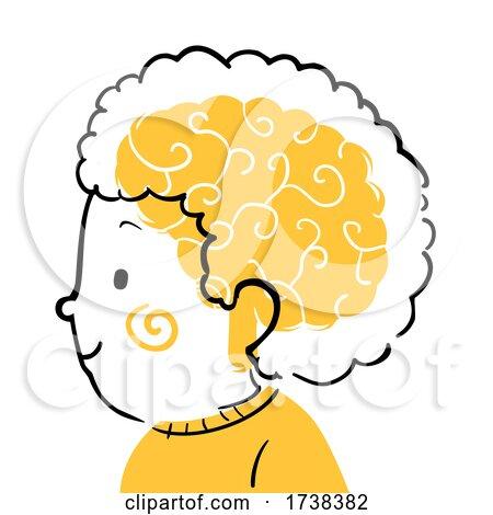 Kid Boy Doodle Profile Brain Illustration by BNP Design Studio