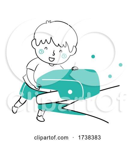 Kid Boy Doodle Puncher Paper Holes Illustration by BNP Design Studio