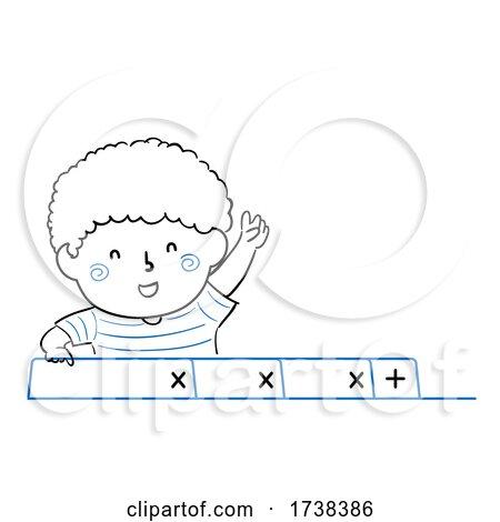 Kid Boy Doodle Web Browser Tabs Illustration by BNP Design Studio