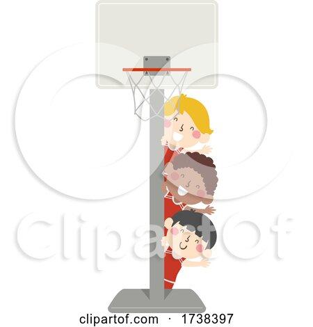 Boys Around a Basketball Hoop by BNP Design Studio